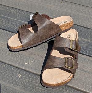 Arizona Brown Footbed Sandals